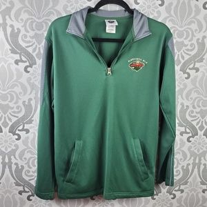 NHL Minnesota Wild mens quarter zip long sleeve